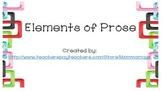 Elements of Prose Task Cards