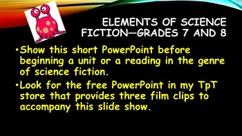 Elements of Science Fiction—Grades 7 and 8