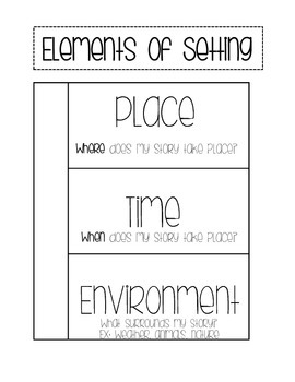 Interactive Notebook - Elements of Setting FREEBIE
