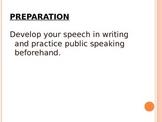 Elements of Speech Notes