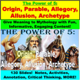 Elements of Story: Allusion, Allegory, Parable, Origin JUMBO