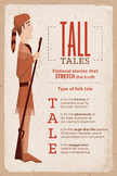Elements of Tall Tales Classroom Poster