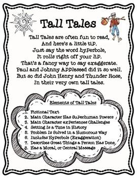 Elements of Tall Tales Poem