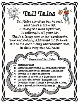 Elements of Tall Tales Poem