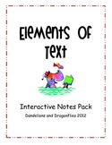 Elements of Text Ineractive Notes Pack