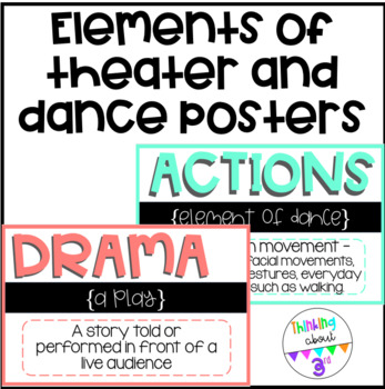 Elements of Theater and Dance Posters