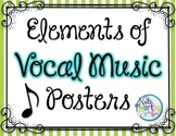 Elements of Vocal Music Posters {Striped}