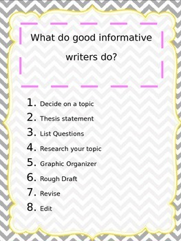 Elements of Writing Posters ~FREEBIE~