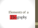 Elements of a Biography Powerpoint
