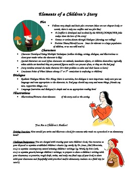 Elements of a Children's Story Handout & Assignment
