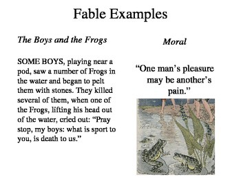 Elements of a Fable