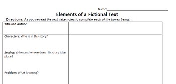 Elements of a Fictional Text