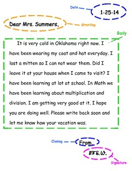 Elements of a Friendly Letter Free