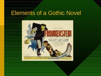 Elements of a Gothic Novel