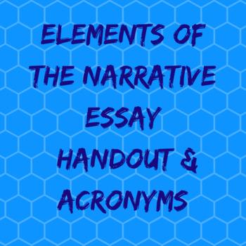 Elements of a Narrative Essay: Acronyms