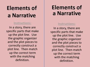 Elements of a Narrative Plot Outline Activity