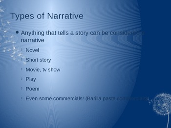 Elements of a Narrative ppt Teacher copy and Student copy