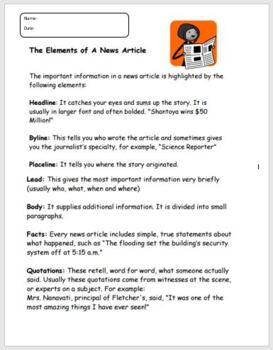 Elements of a News Article