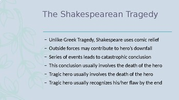 Elements of a Shakespeare tragedy Powerpoint