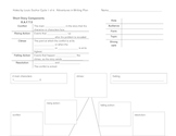 Elements of a Short Story-Planning template for Students