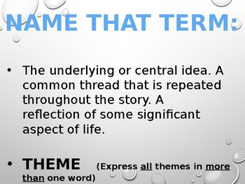 Elements of a Short Story PowerPoint