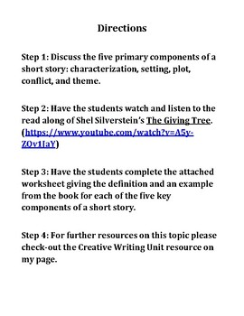 Elements of a Short Story Practice