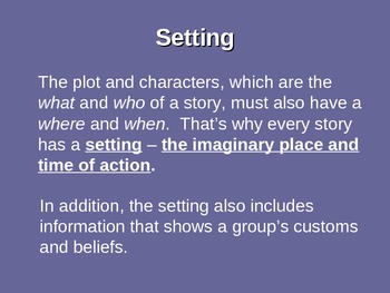 Elements of a Short Story Presentation
