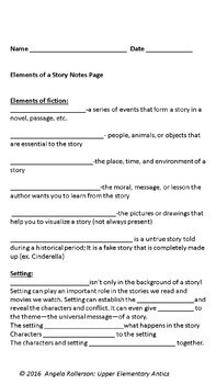 Elements of a Story minilessons (editable)