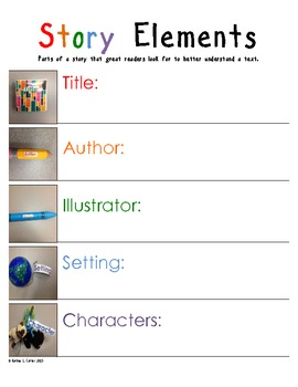Elements of a Story Anchor Chart/Assessment