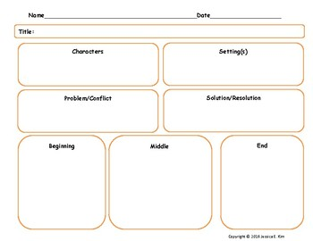 Elements of a Story Outline - Narrative Graphic Organizer