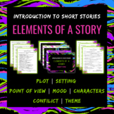 Elements of a Story Presentation and Fill-in-the-Blank Student Notes