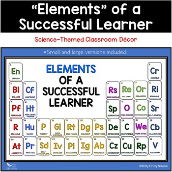 Elements of a Successful Learner - Science-themed Classroom / Bulletin Board