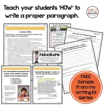 sample paragraph writing