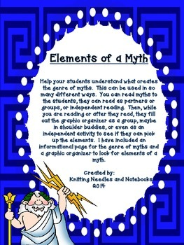Elements of a myth: Information page and graphic organizer