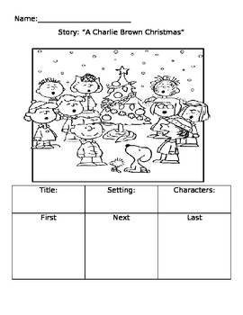 "Elements of a story ""Charlie Brown Christmas"""