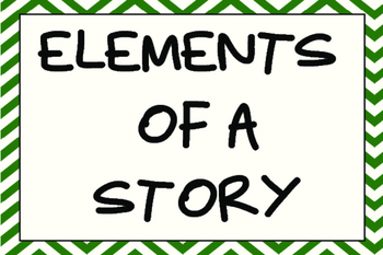 Elements of a story mini posters
