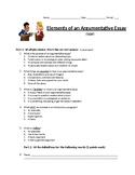 Argumentative essay exam