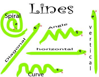 Elements  of art : line chart