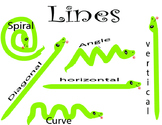 Elements  of art : line chart