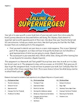 Elements of the Hero's Journey with Comics