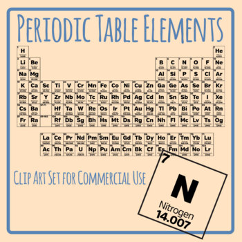 Elements of the Periodic Table - Individual Elements Clip Art Set Commercial Use