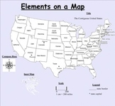 Elements on a map