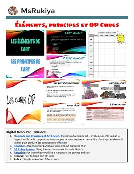 Éléments, principes et OP Cubes - Elements and principle of Art & Op Cubes