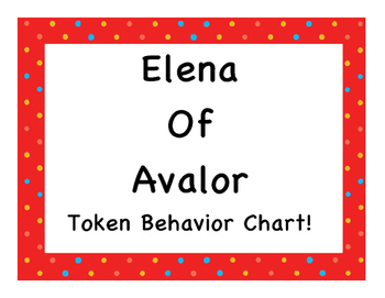 Elena Of Avalor Token Behavior Chart!