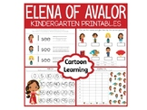Elena of Avalor Kindergarten - Math and Literacy