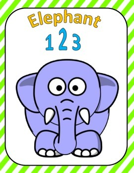 Elephant 123 File folder Game