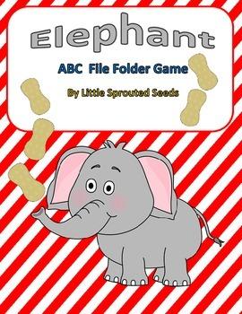 Elephant ABC File Folder Game