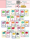 Elephant Alphabet Cards - Word Wall Headers