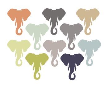 Elephant Animal Clipart, Elephant, Animal, Set #206