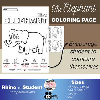 Elephant Animal Coloring Book Activity